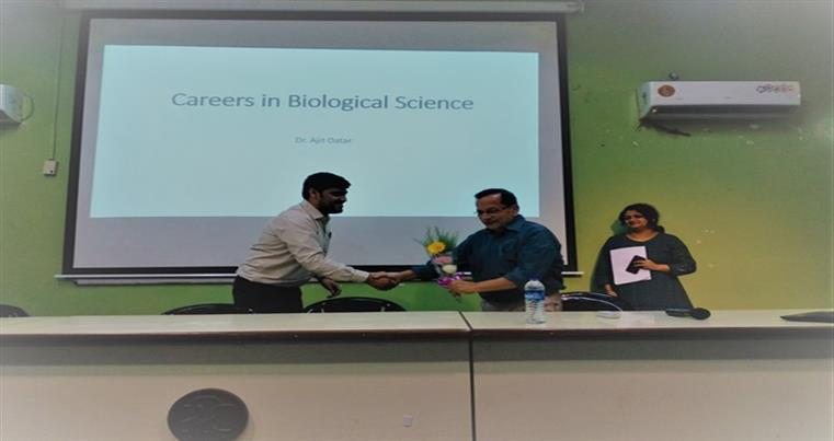 A talk on Careers in Biological Sciences by Dr Ajit Datar, Shimadzu Analytical India Private Limited