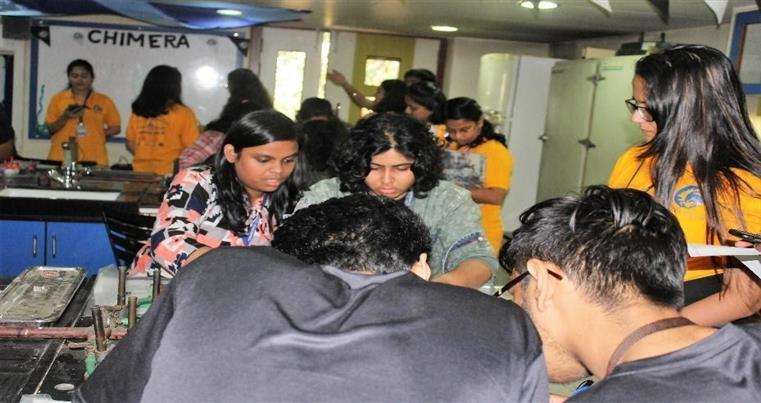 Students From different colleges enthusiastically participating in Chimera